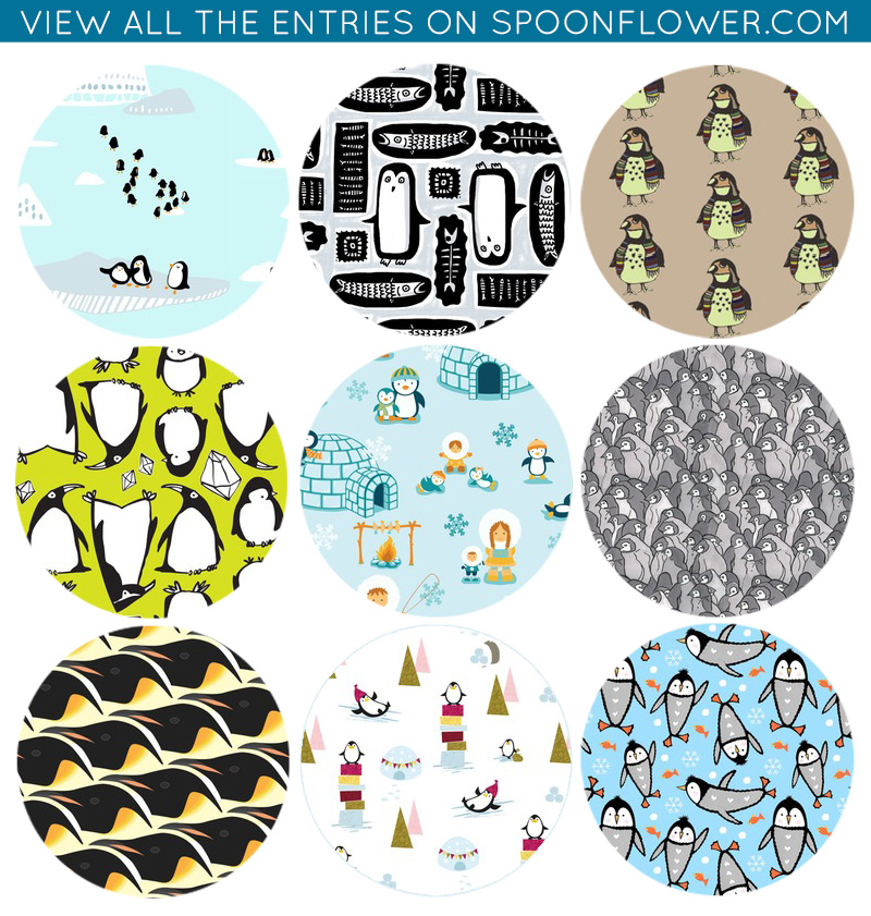 Vote for your favorite penguin fabric!