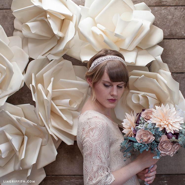 Jumbo paper flowers