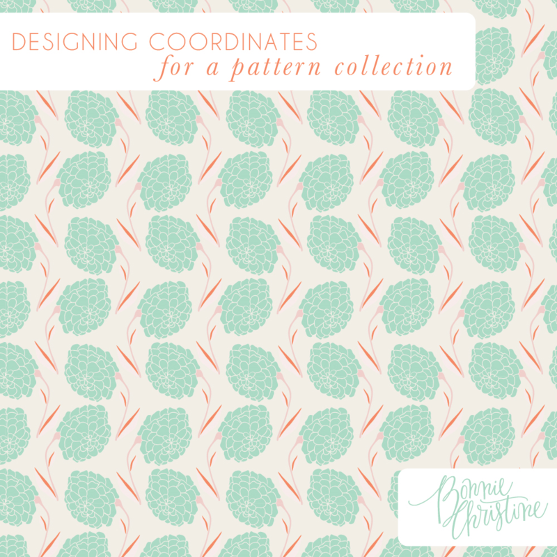 Designing coordinates for a pattern collection