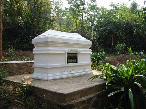 Henri Mouhot's tomb near the Nam Khan river, Luang Prabang province (photograph by Jana Igunma, 2001).