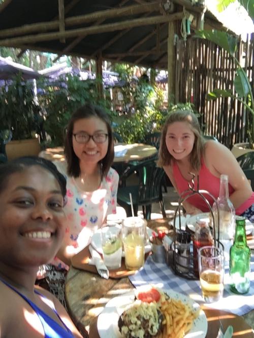 Me with Leah and Amy at Sanita's Tea Garden