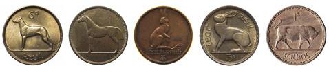 Pre-Euro Irish Coins