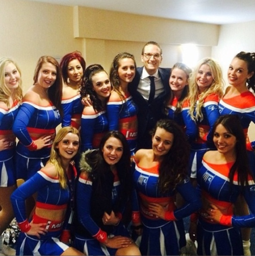 Proudlock and Gillingham Cheerleaders
