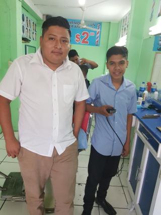 Kevin y su maestro