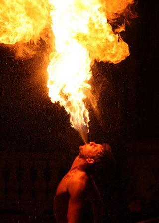 image of firebreather by flickr user margaretmeloan