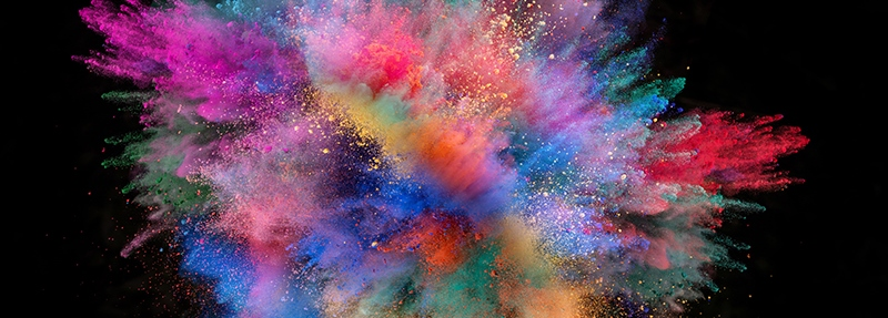 Colour explosion - web banner_campaign monitor