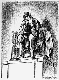 Mauldin_Lincoln_weeping cartoon