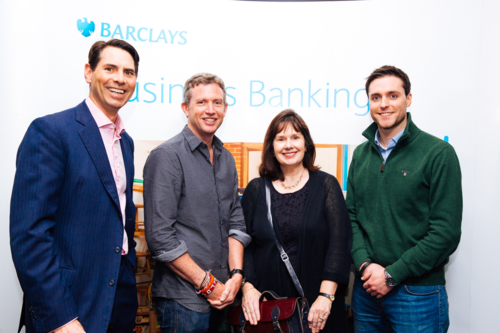 Pictured from left to right: Richard Phelps, Executive for Entrepreneurs at Barclays, Paul Lindley, Julie Deane and Eamon Fitzgerald