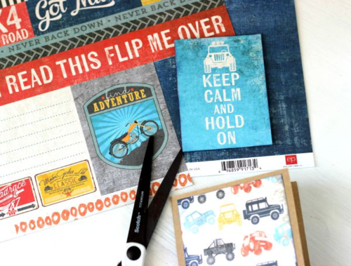 "Keep Calm card by Holly Gagnon with the ""Off Road"" Mini Theme Collection by #EchoParkPaper"
