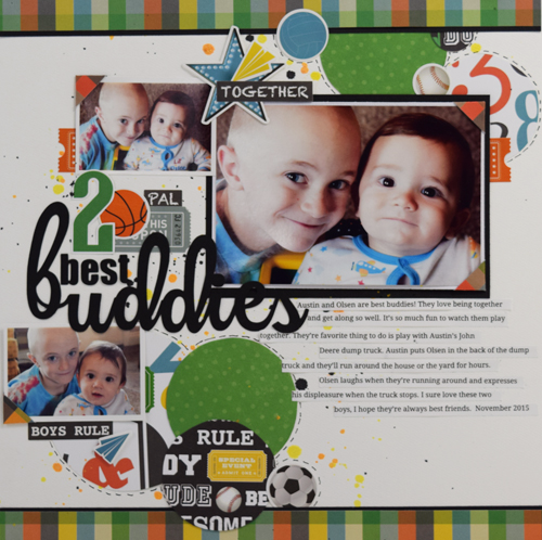"2 Best Buddies layout by Becki Adams with the ""Boy Cousins"" collection by #EchoParkPaper"