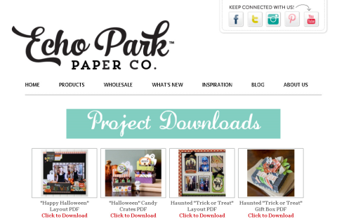 Free Project Downloads from #EchoParkPaper and #CartaBellaPaper