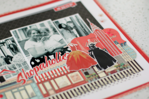 """scrapbook layout by Anya Lunchenko featuring the """"Metropolitan Girl"""" collection by #CartaBellaPaper"""