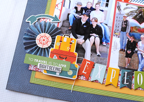 """""""Exploring New Cities"""" layout by Jana Eubank for #EchoParkPaper with the """"Go. See. Explore."""" collection"""