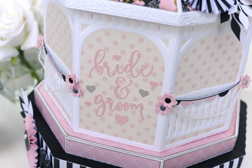 "3D Wedding Gazebo by Jana Eubank with the ""Wedding Bliss"" Collection by #CartaBellaPaper"