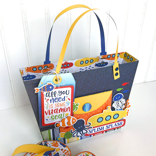 "Beach Tote and Flip Flops by Jana Eubank with the ""Under the Sea"" collection by #EchoParkPaper"
