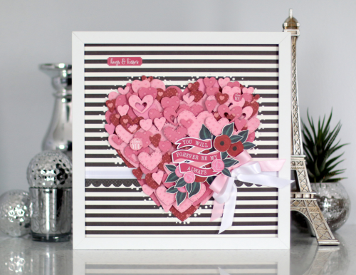 "Valentine's Day framed heart art by Anya Lunchenko with the ""Hello Sweetheart"" collection by #CartaBellaPaper"