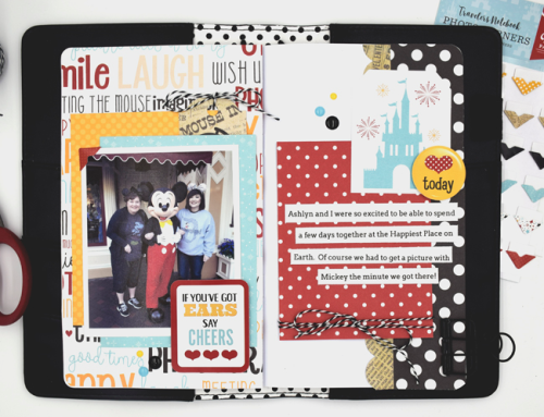 """Wish Upon a Star"" Travelers Notebook spread by Tya Smith for #EchoParkPaper"