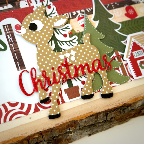 """Christmas Countdown by designer Courtney Lee with the """"The Story of Christmas"""" collection by #EchoParkPaper"""