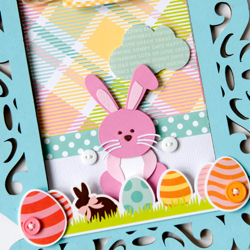 "Easter Bunny frame by Tegan Skwiat with the ""Easter"" collection and designer dies by #EchoParkPaper"