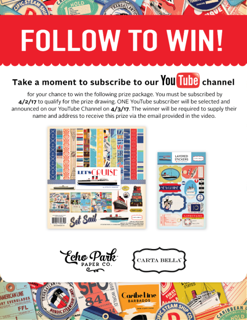 Follow To Win!  #EchoParkPaper #CartaBellaPaper YouTube