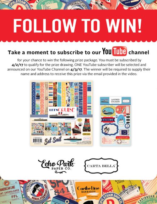 Follow To Win!  #EchoParkPaper #CartaBellaPaper YouTube