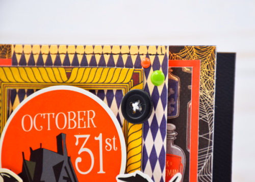 "October 31st card by Tya Smith with the ""Haunted House"" collection by #CartaBellaPaper"