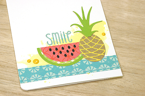 """Smile"" card by Courtney Kelley featuring Echo Park's ""Sweet Summertime"" collection plus designer dies and stamps"