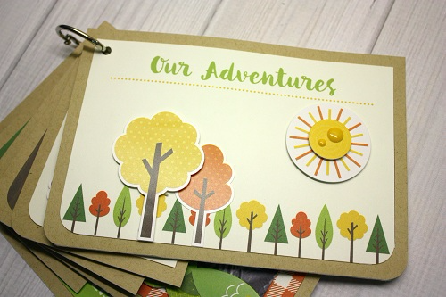 """Summer Camp"" Journal Card Mini Album by Shellye McDaniel for #EchoParkPaper"