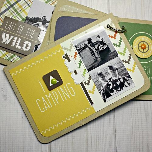 """Summer Camp"" Journal Card Mini Album by Shellye McDaniel for #EchoParkPaper"
