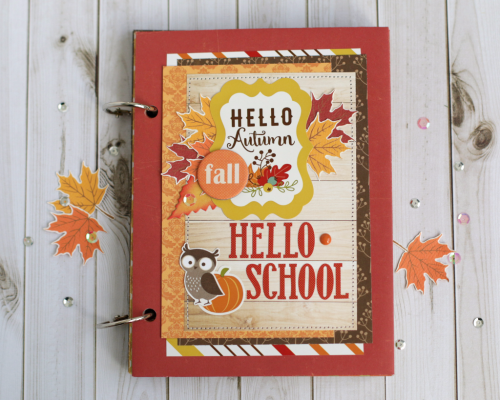 "Fall/School themed mini album by Anya Lunchenko featuring the ""Fall is in the Air"" collection by #EchoParkPaper"