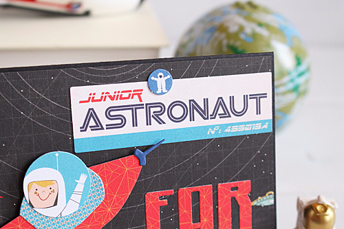 """Far out card by Kimberly Crawford with the """"Space Academy"""" collection and designer dies by #CartaBellaPaper"""