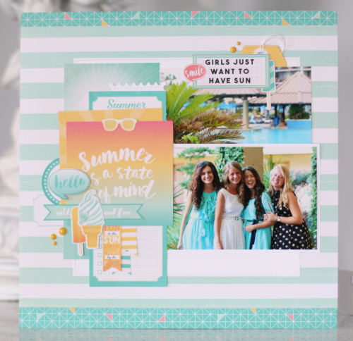 "Layout by Anya Lunchenko for #EchoParkPaper with the ""Summer Dreams"" collection"