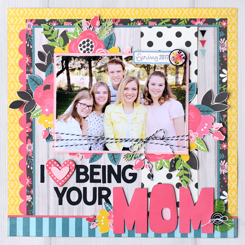"""I Love Being Your Mom Layout Layout by Jana Eubank with the """"Summer Fun"""" Collection by #EchoParkPaper"""