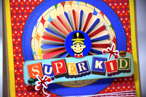 """Superkid"" card created by Tya Smith with the ""Toy Box"" Collection by #CartaBellaPaper"