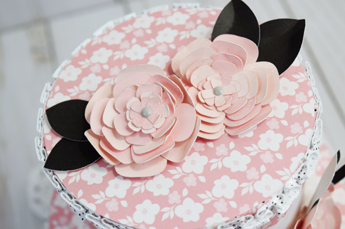 "3d Paper Wedding Cake by Becki Adams with the ""Wedding Bliss"" collection and designer dies from #EchoParkPaper"