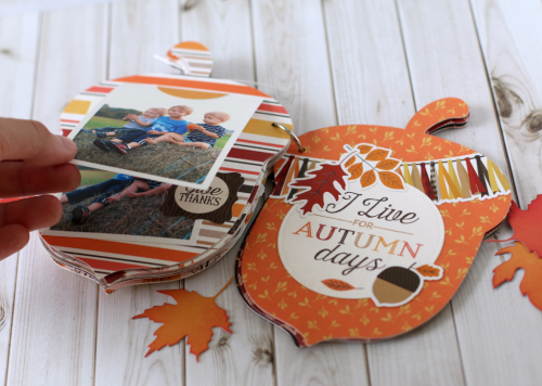"Acorn Shaped Mini Album by Anya Lunchenko with the ""Hello Fall"" collection by #CartaBellaPaper"