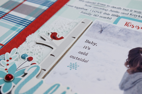 "Winter Fun Layout by Becki Adams with the ""A Perfect Winter"" collection from #EchoParkPaper"