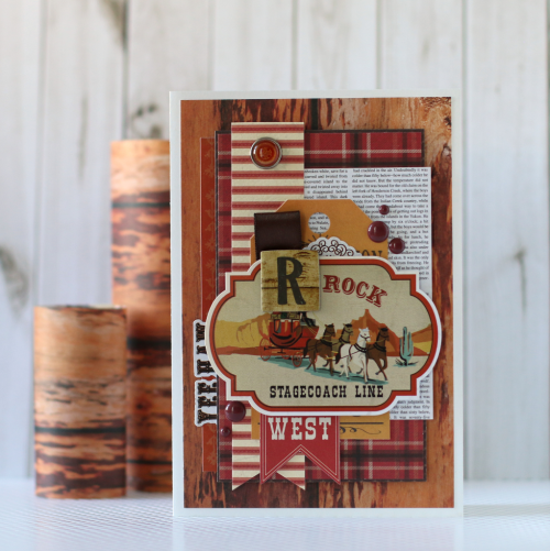 """""""Stagecoach"""" card created by Anya Lunchenko with the """"Cowboy Country"""" Collection by #CartaBellaPaper"""