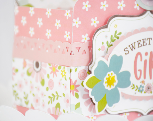 "Baby Girl Gift Basket by Tya Smith with the ""Sweet Baby Girl"" collection by #EchoParkPaper"