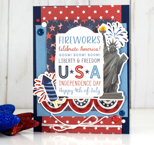 Usa 4th Of July Card By Tya Smith Featuring The Celebrate America