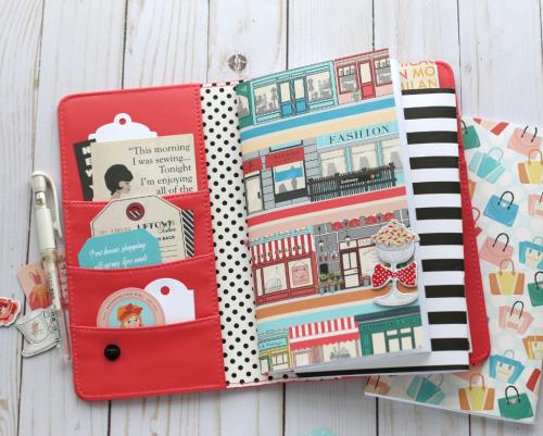 Metropolitan Girl Travelers Notebook by Anya Lunchenko for #EchoParkPaper