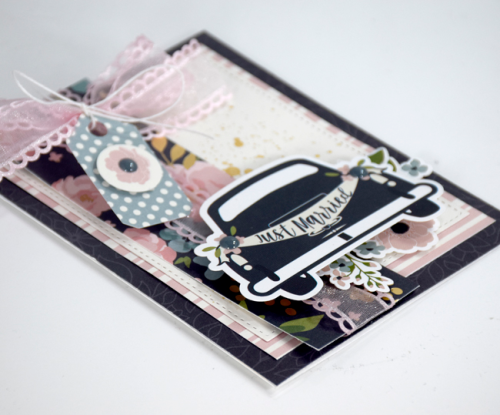 """Just Married"" Card by Tya Smith for #EchoParkPaper"