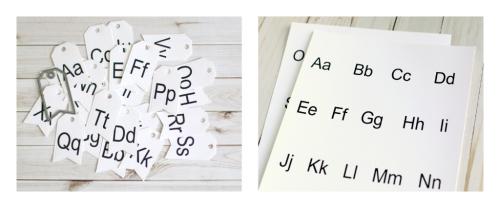 """Back to School"" Alphabet Key Chain by Anya Lunchenko for #EchoParkPaper"