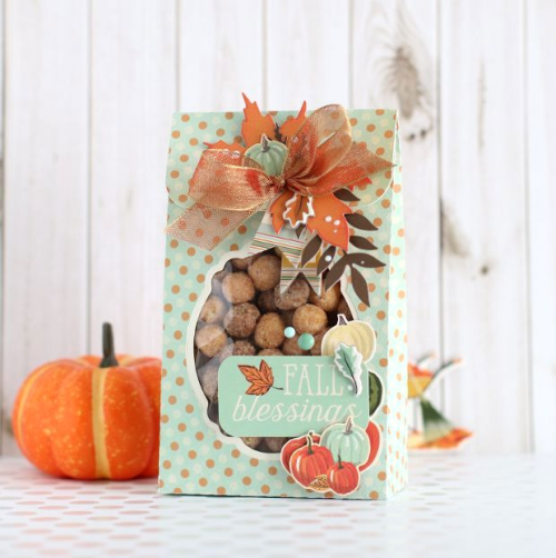 """Autumn treat bags by Anya Lunchenko featuring the """"Fall Break"""" collection by #CartaBellaPaper"""