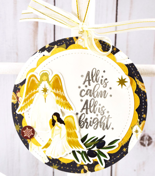 "Christmas Ornaments by Tya Smith featuring the ""Oh Holy Night"" collection by #EchoParkPaper"