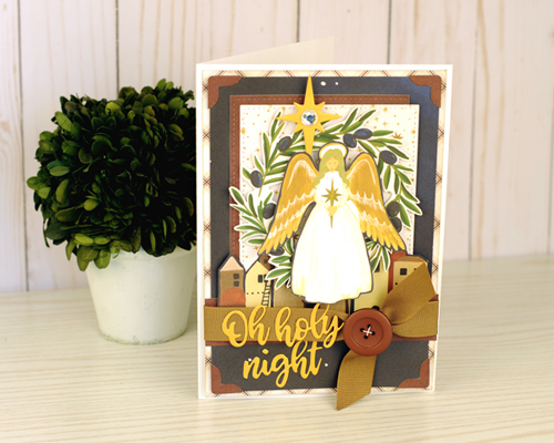 "Christmas Card by Jana Eubank featuring the ""Oh Holy Night"" collection by #EchoParkPaper"