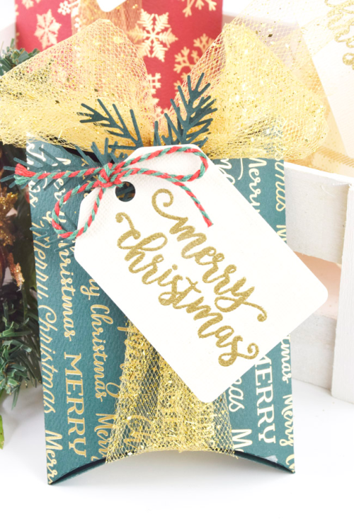 Gold Foiled and Stamped Christmas boxes by Tya Smith for #CartaBellaPaper