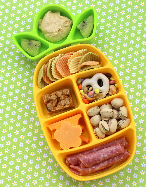 Children's lunch in a pineapple-shaped bento box