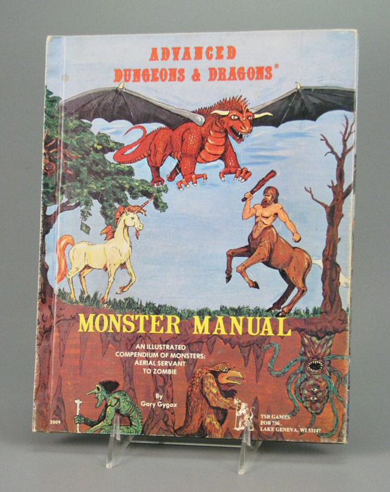 As seen on Freaks and Geeks: Advanced Dungeons & Dragons Monster Manual, TSR, Inc., 1977, courtesy of The Strong, Rochester, New York.