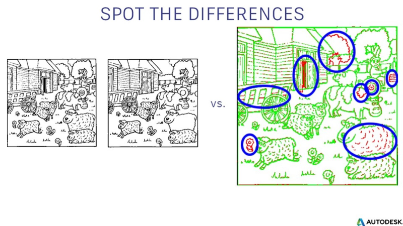 spot the differences augmented reality AR comparison contrast overlay